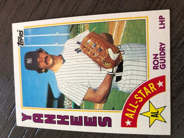1984 TOPPS RON GUIDRY 406 Item Image